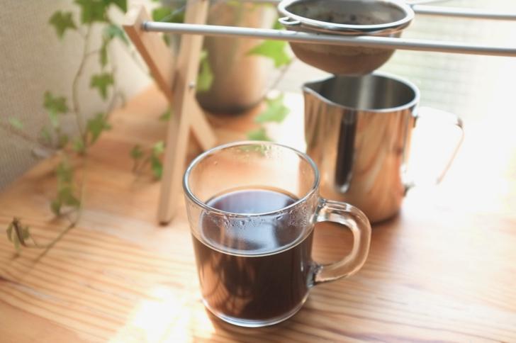 茶こしでコーヒーを淹れた1杯