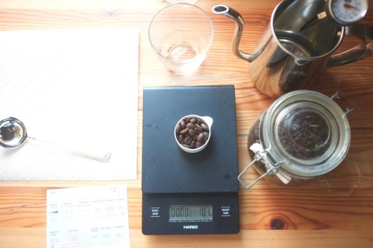 コーヒーカッピングの道具