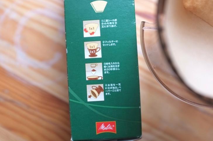 メリタのコーヒーの淹れ方の説明
